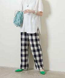 <UNITED ARROWS>格紋 直筒褲 W