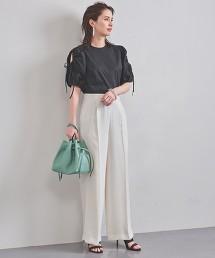 UBCB 雙層緞面 高腰寬褲 WHITE 日本製