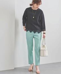 UBC 斜紋織 修身長褲 日本製