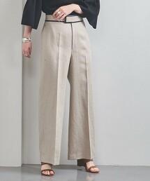 UBC 滾邊 亞麻寬褲 日本製
