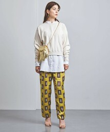 <UNITED ARROWS>方塊印花 打摺褲 W 日本製