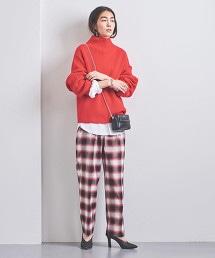 UGMSC 格紋錐形褲