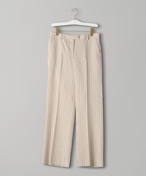 <INCOTEX>ODETTA 直條紋直筒褲