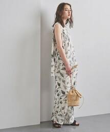 <SACRA>無彩色 植物 輕便褲 日本製