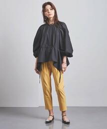 <UNITED ARROWS>P/PU 摺線 錐形褲 B 日本製