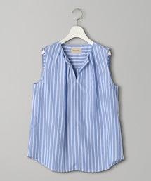 UBCS 直條紋 開衩領 無袖套衫