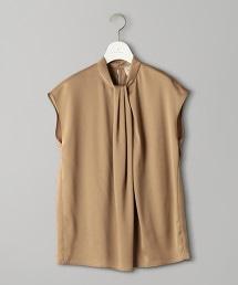 UBCB 立領 不對襯打摺 法國袖罩衫