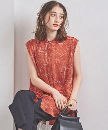 UWFM 葉子印花 法國袖 罩衫 日本製