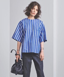 UGSC 直條紋 口袋 襯衫式罩衫