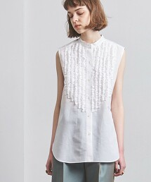 UGCMD 荷葉領無袖襯衫 日本製