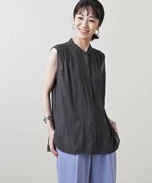 UBC P 抽褶 無袖 罩衫 日本製