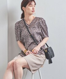 UBC 小方塊印花 蓬袖套衫 日本製