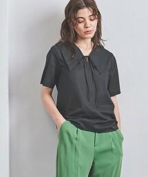 <UNITED ARROWS>蝴蝶結 短袖 套頭罩衫 日本製