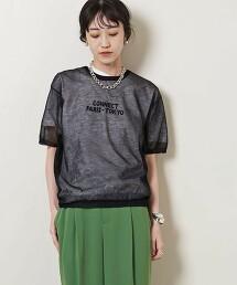UWC SHEER 圓領 短袖針織衫†