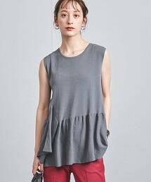 UBC C/PE 不規則褶襇飾邊 無袖 針織上衣†