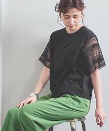 UWCC 蕾絲 拼接 短袖 針織衫