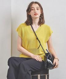 UBCB LI/PE 畦編 V領 法國袖針織衫 日本製