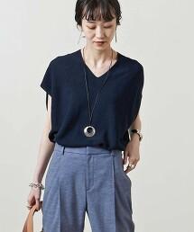 <UNITED ARROWS>法國袖 針織上衣 W 日本製