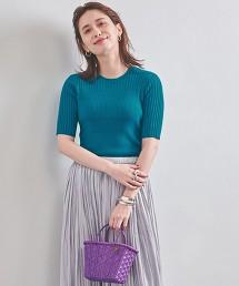 UWSC 拼接羅紋 短袖針織衫