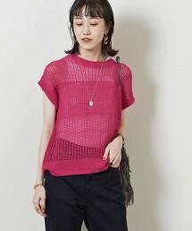 UWSC C/LI 透膚 法國袖 針織衫