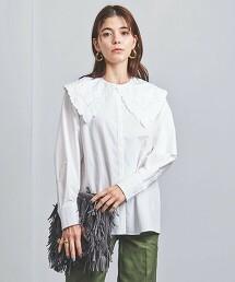UWFM 刺繡領 2WAY 罩衫 †