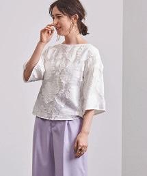 UBCS 剪織緹花布 荷葉袖罩衫