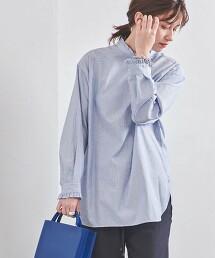 UWSC 立領 褶邊 罩衫 日本製