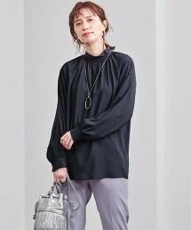 UBC 抽褶 高領 罩衫 日本製