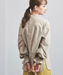 UWFM 縮褶 微高領 罩衫† 日本製