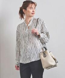UBC 線條印花 領帶套衫 日本製