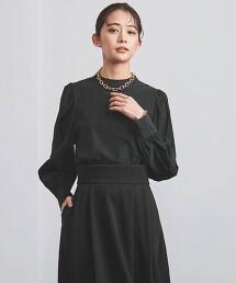 UBCMD 高領 蓬鬆袖 罩衫 † 日本製