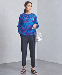 UBCS 剪織緹花布 花朵印花 罩衫