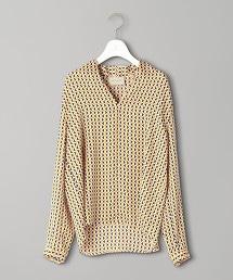 UBCB 幾何圖案 蓬鬆V領上衣 9SL