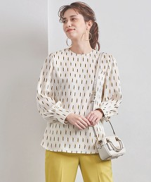 UBCB 直條印花 圓領罩衫
