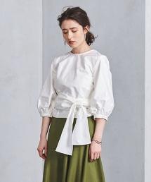<SACRA>交叉設計 襯衫◆ OUTLET商品