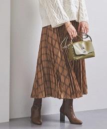UWSC 格紋 風琴褶 長裙