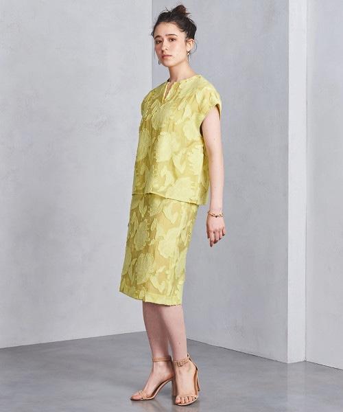 UBCS 剪織緹花 窄裙†