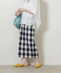 <UNITED ARROWS>格紋 窄裙 W