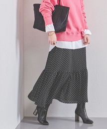 UWFM 圓點層次長裙
