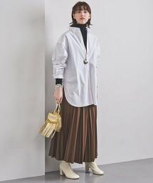 <UNITED ARROWS>仿皮革 褶裙 W