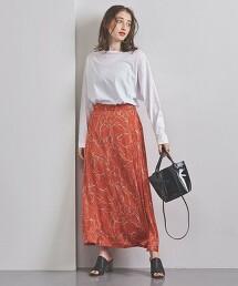 UWFM 葉片印花 迷嬉裙 日本製
