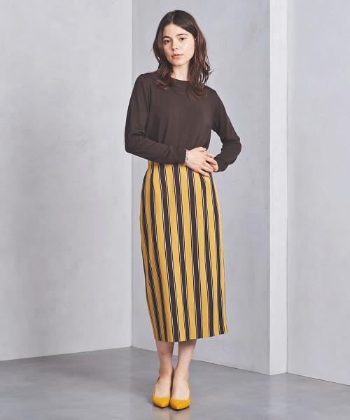 UWSC RA/N 條紋高腰窄裙