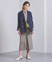 UGMSC 直條紋方形摺線裙