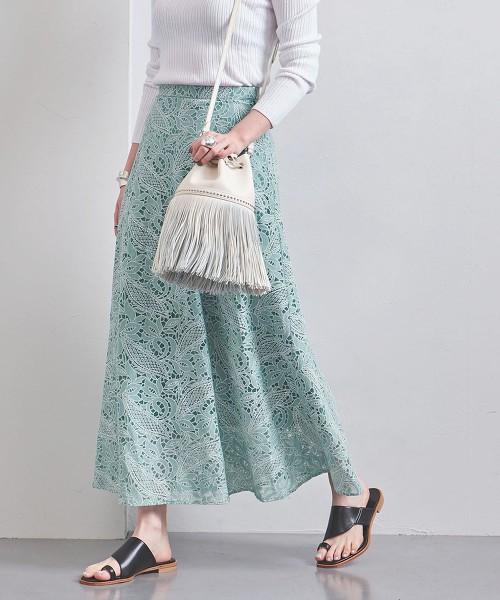 UWFM 蕾絲 長裙 日本製