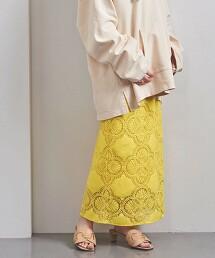 UWFM 圈形蕾絲 窄裙 日本製