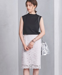 ○UBCS 蕾絲刺繡 窄裙 18FW