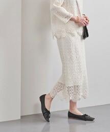 UBC 拉舍爾蕾絲 窄裙 日本製