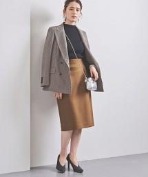 UBCB 柔滑素材 打摺 窄裙
