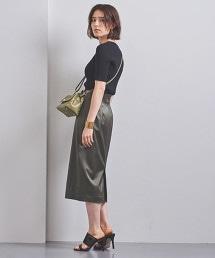 UBCB 色丁 高腰 窄裙