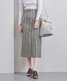 UBCB C/P 直條紋窄裙† 日本製